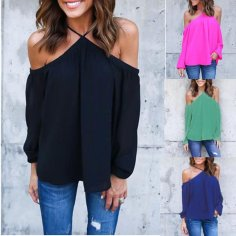 off shoulder halter blouse